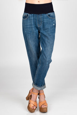 Boyfriend Fit High Waist Jeans