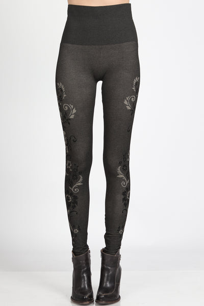 Dancing Florals Jacquard Leggings