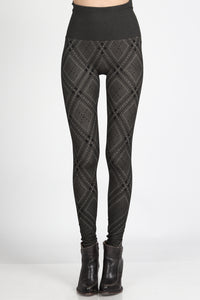 Modern Plaid Jacquard Leggings