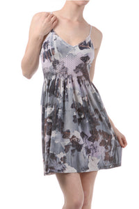 Abstract Camo Print Dress