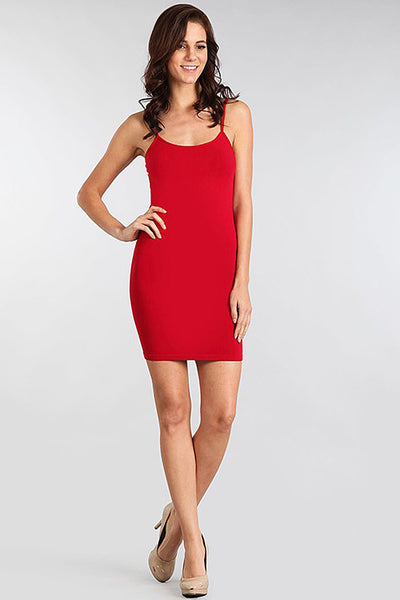M. Rena Red Door Spaghetti Strap Cami Dress
