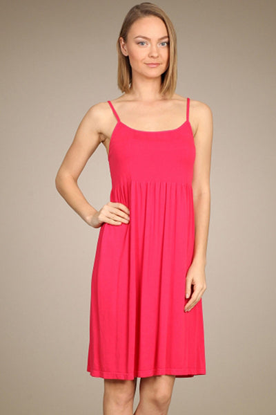 M. Rena Virtual Pink Ribbed Cami Babydoll Dress