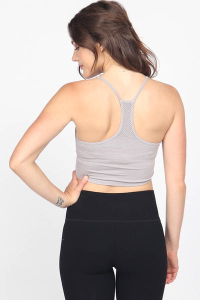 Racerback Bralette with Mesh Back
