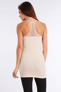 Mesh Racer Back Tank Top