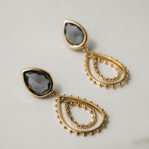 Venetian Gray Drop Earrings