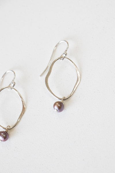 Chan Luu Blue Pearl Matisse Earrings