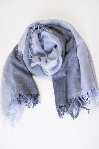 Chan Luu Dip-Dyed Lurex Cashmere And Silk Scarf