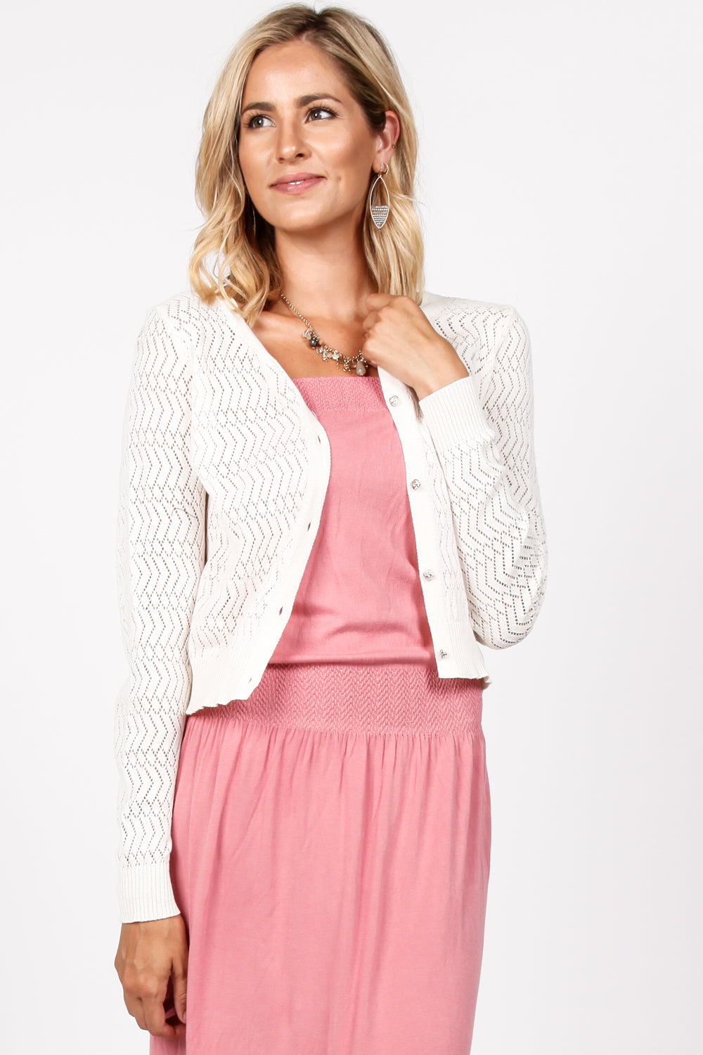 Felicity Lace Cropped Cardigan