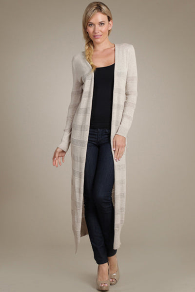 M. Rena Lino Pointelle Duster Cardigan