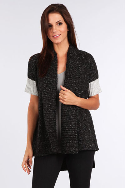 Squared Jacket with Contrast Rib
