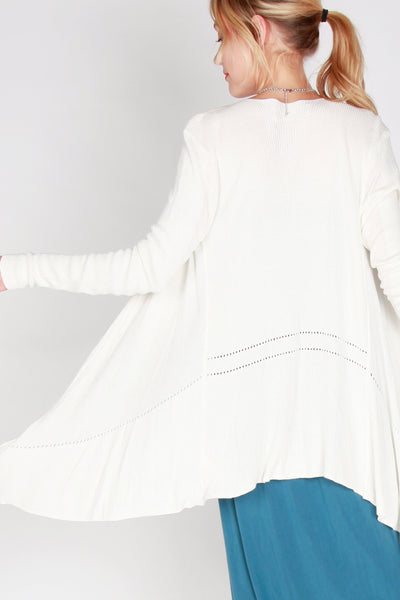 Gabrielle Waterfall Draped Cardigan