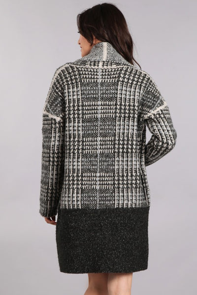 Houndstooth Contrast Coat