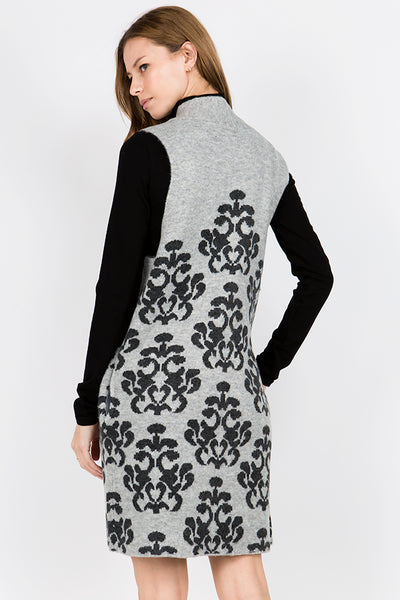Versailles Damask Sweater Vest