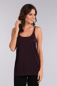 M. Leisure by M. Rena Purple Double Layer Tank with Racer Back