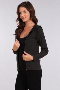 M Leisure by M Rena Black Hoodie Jacket with back pocket