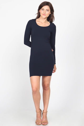 Long Sleeve Scoop Neck Dress