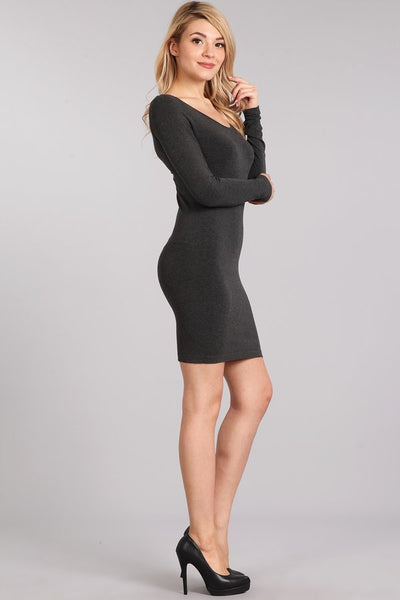 Heather Long Sleeve Scoop Dress