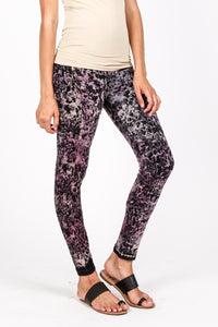 Violet Floral Leggings