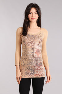 Antique Patchwork Knit Top