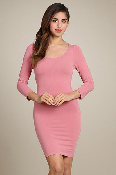 M. Rena Tea Rose 3/4 Sleeve Dress