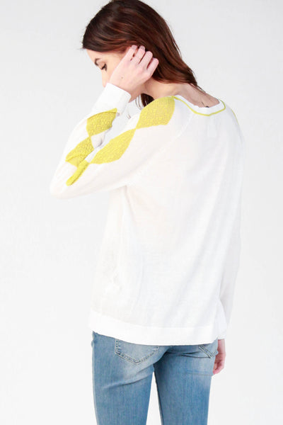Diamond Sleeve Pullover