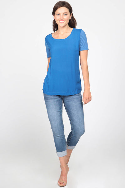 Mix Media Scoop Neck Tee