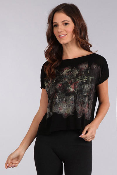 Wall Flower Printed Top
