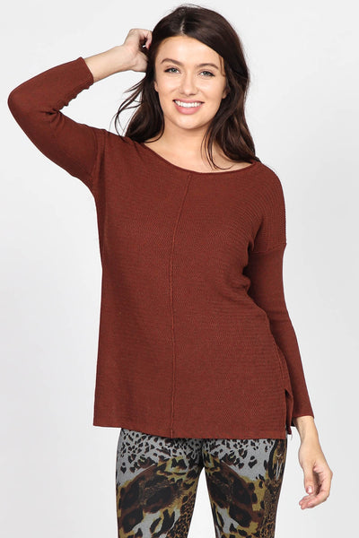 Amber Long-Sleeve Knitted Tunic