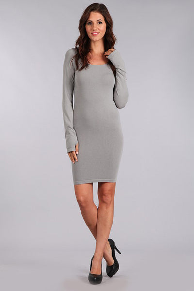 M. Rena Grey 17 Long Sleeve Dress w/ Thumbholes