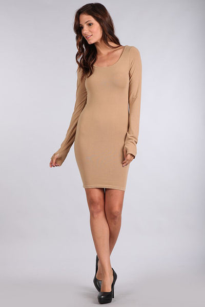 M. Rena Tannin Long Sleeve Dress w/ Thumbholes