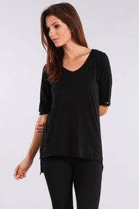 Supima Cotton Cutout Tee