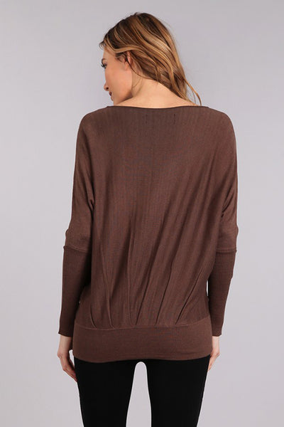Coffee Shop Pleated Pullover