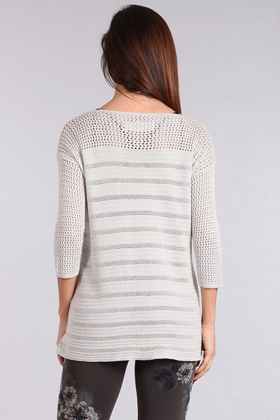 Dropped Shoulder Knit Tunic