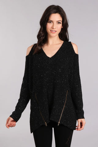 Payton Cold Shoulder Sweater