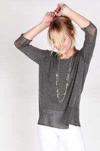Sheena Pointelle Hem Pullover