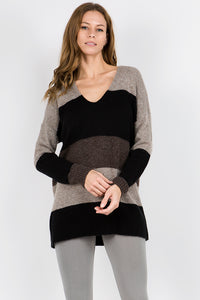 Audrey Stripe Colorblock Pullover