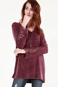 Dentelle Crochet Sleeve Tunic