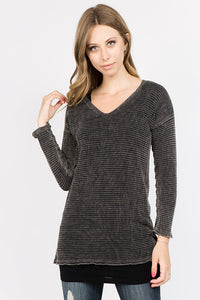 Textured Waffle Knit Top