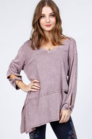 Carrie Knotted Sleeve Tunic