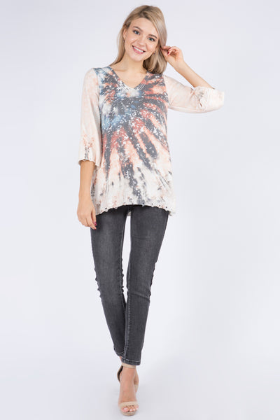 Lily Tie-Dye Printed Sweater