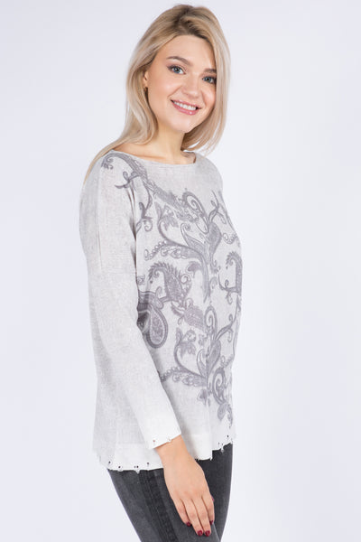 Mary Printed Sweater