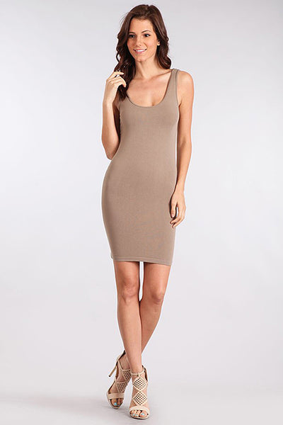 M. Rena Sandstone Scoop Neck Tank Dress