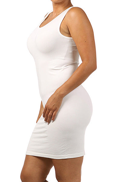 M. Rena Off White Plus Size Scoop Neck Tank Dress