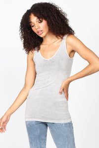 Mineral Wash V-Scoop Neck Tank