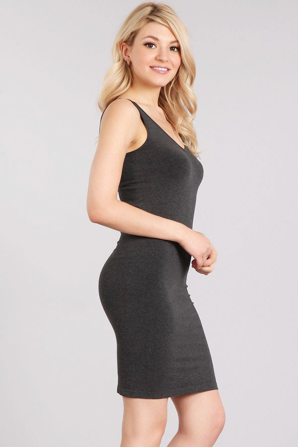 Heather Reversible V-Scoop Neck Dress