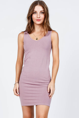 Reversible V-Scoop Neck Tank Dress - Colors