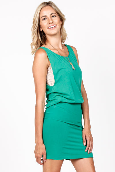 Kelly Blouson Sleeveless Dress