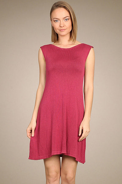 M. Rena Summer Berry Drop Shoulder Sweater Dress