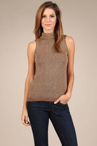 Lurex Mock Neck Tank