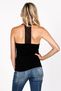 Tank with Lace Back Panel
